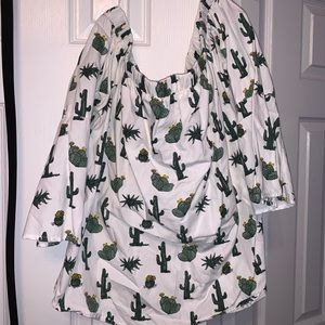 Cactus Off the Shoulder top